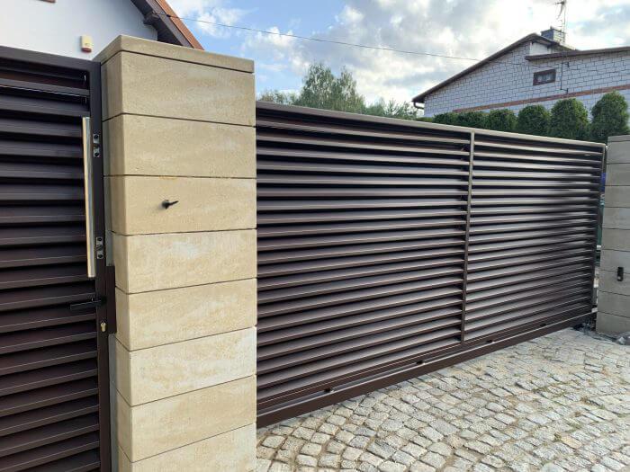 Brama oraz furtka aluminiowa
