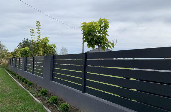 Nowoczesne ogrodzenie palisadowe