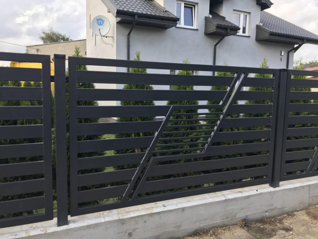 Nowoczesne przęsła ogrodzenia aluminiowego