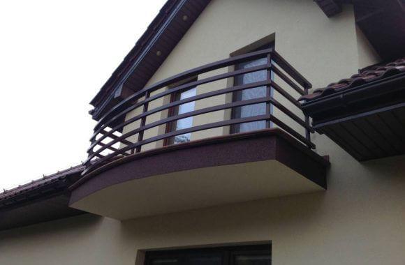 Balustrada metalowa na balkon