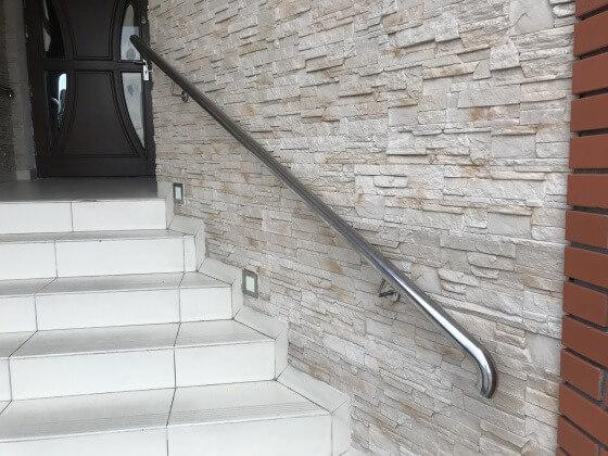 Poręcz metalowa na schody