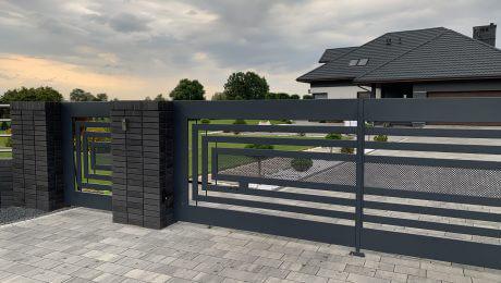 Nowoczesne ogrodzenie aluminiowe