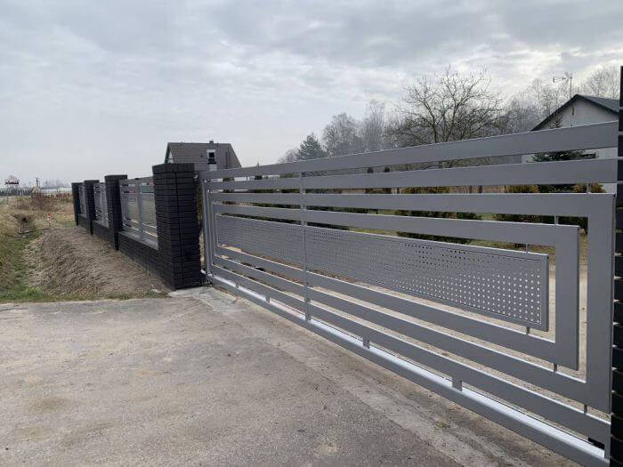 Ogrodzenie aluminiowe, nowoczesne, brama wjazdowa - Sochaczew