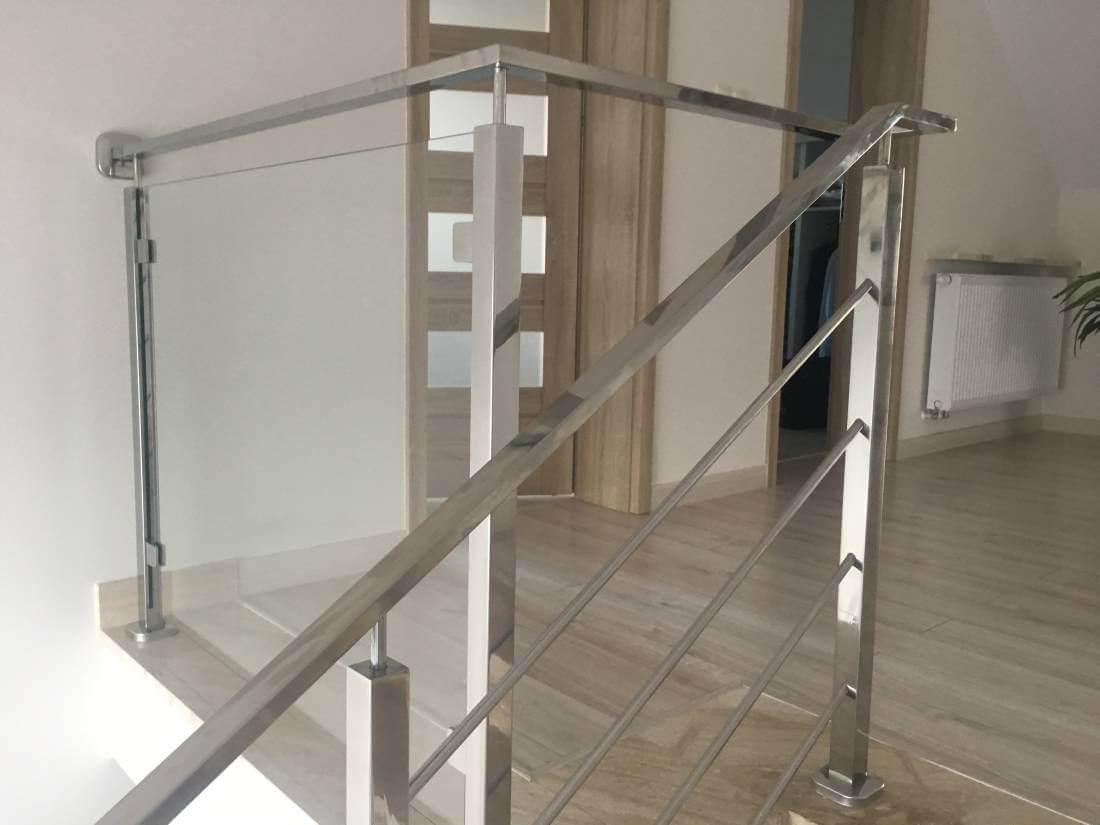 Balustrada szklana nierdzewna schodowa - Pabianice