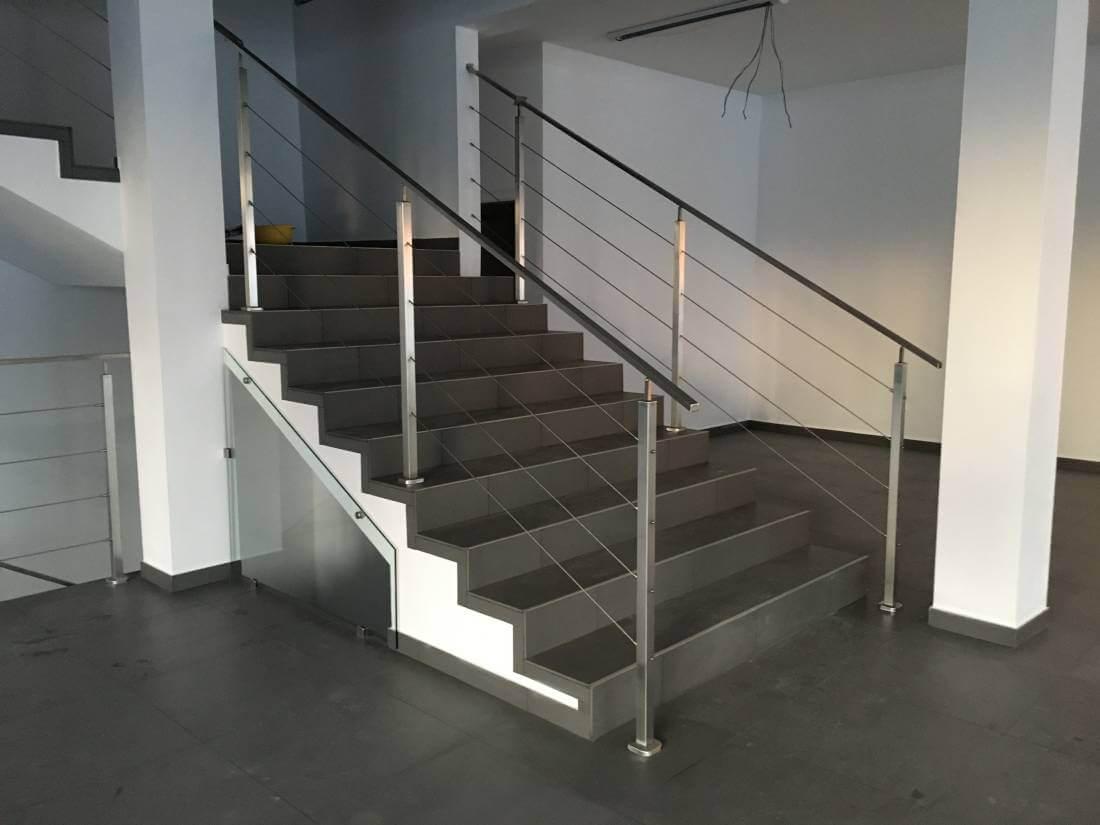 nowoczesna balustrada nierdzewna schodowa Żyrardów