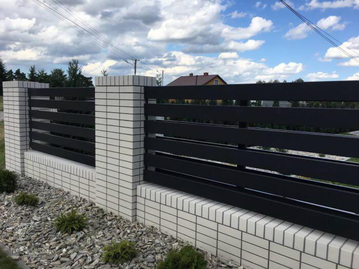 nowoczesne ogrodzenie aluminiowe nowoczesne Łowicz