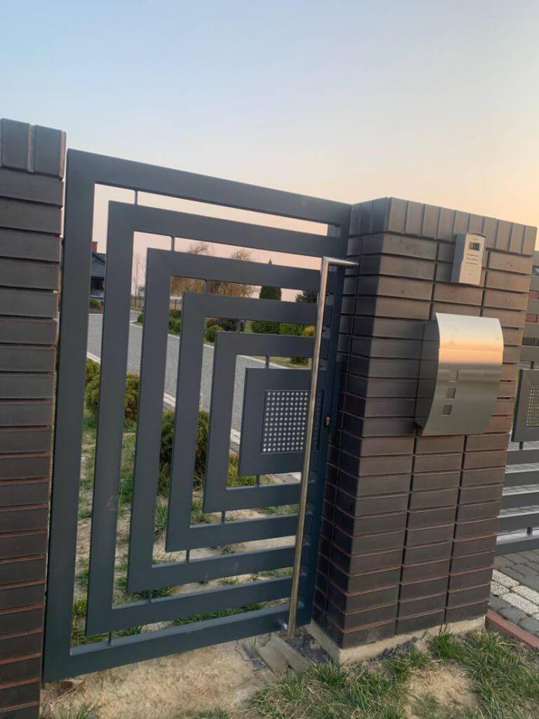 Nowoczesne ogrodzenie aluminiowe furtka Opoczno