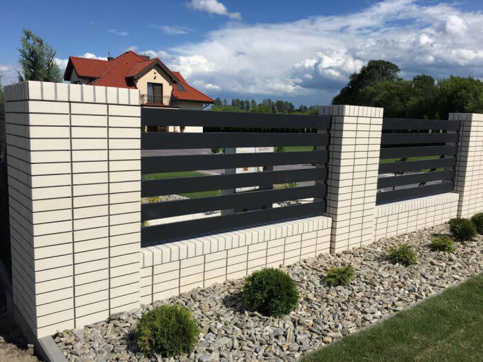 ogrodzenie aluminiowe nowoczesne Łowicz