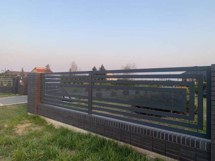 Nowoczesne ogrodzenie aluminiowe Opoczno