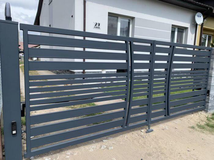 Ogrodzenia aluminiowe, nowoczesne, brama wjazdowa - Ożarów Mazowiecki
