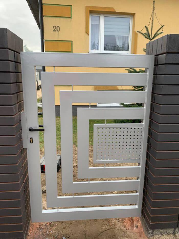 Ogrodzenie aluminiowe, nowoczesne, furtka - Sochaczew