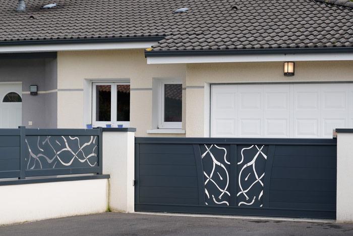 Nowoczesne ogrodzenie metalowe zaluminium - plotex.net.pl