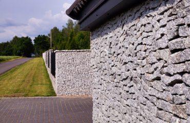 Masywne ogrodzenie z granitu - plotex.net