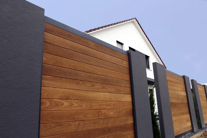 Ogrodzenie palisadowe poziome drewniane - plotex.net