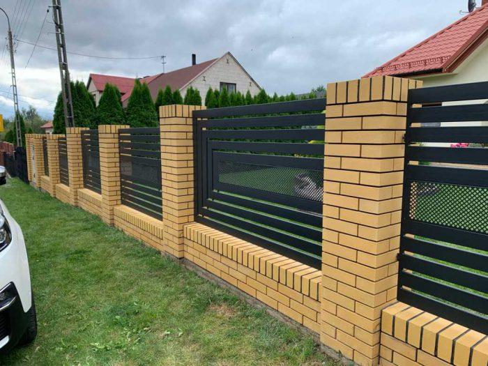 Nowoczesne ogrodzenie palisadowe Łódź - Plotex.net.pl